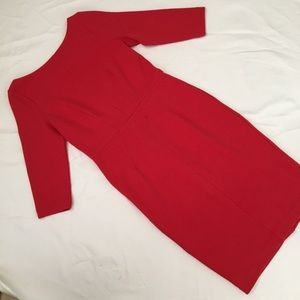 Boden Red Midi Length Pencil Dress